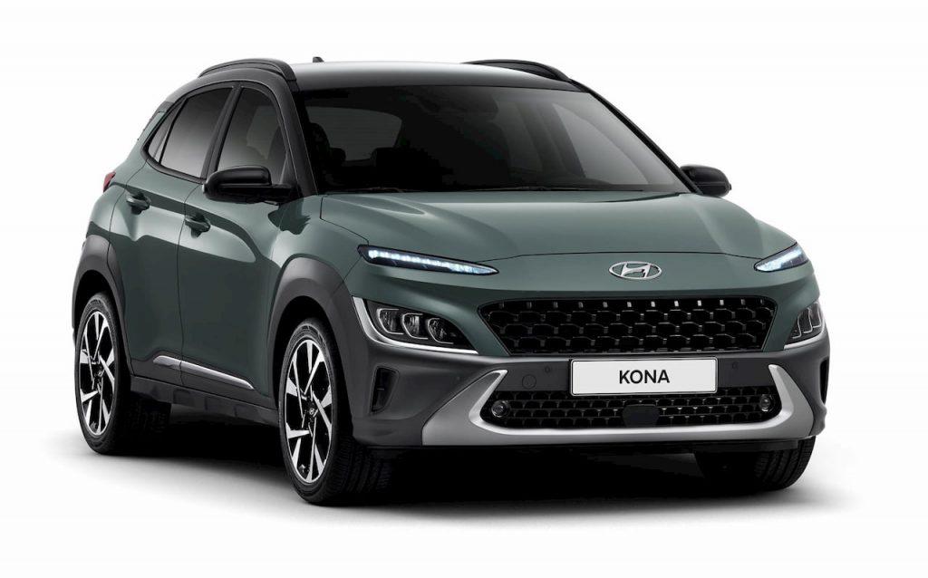 2021 Hyundai Kona facelift green front quarters