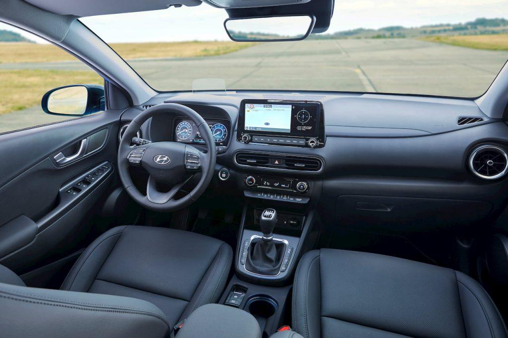 2021 Hyundai Kona facelift interior dashboard