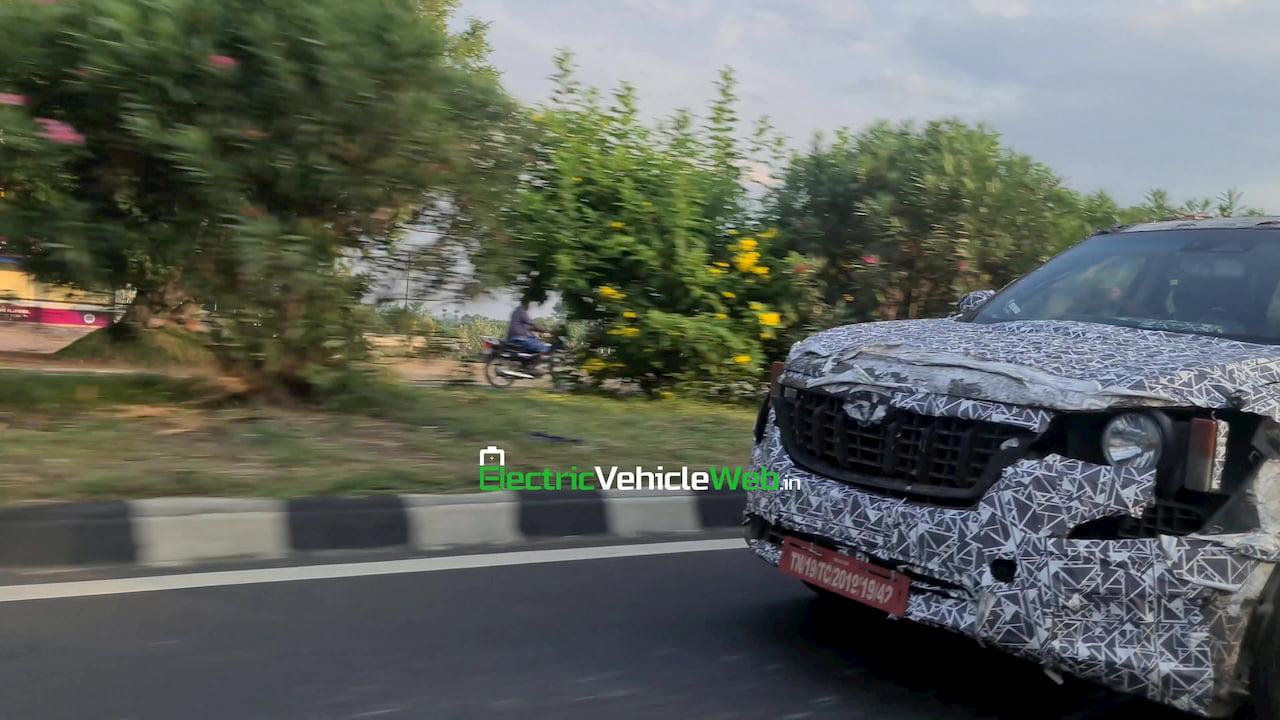 2021 Mahindra XUV500 XUV600 W601 spy shot