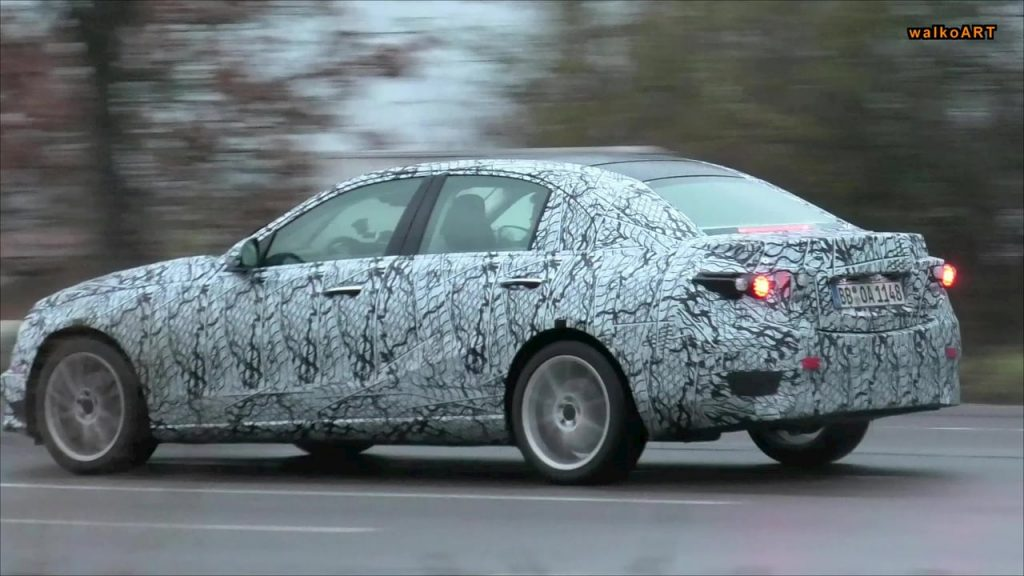 2021 Mercedes C-Class W206 rear quarters spy shot