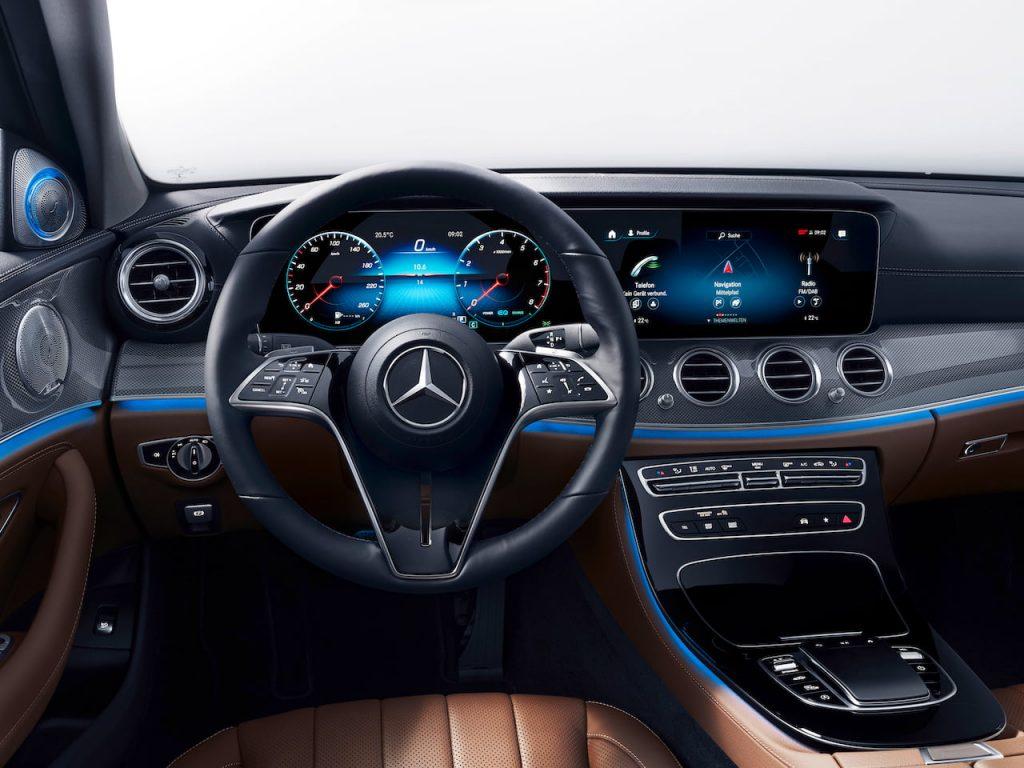 2021 Mercedes E-Class facelift dashboard driver side