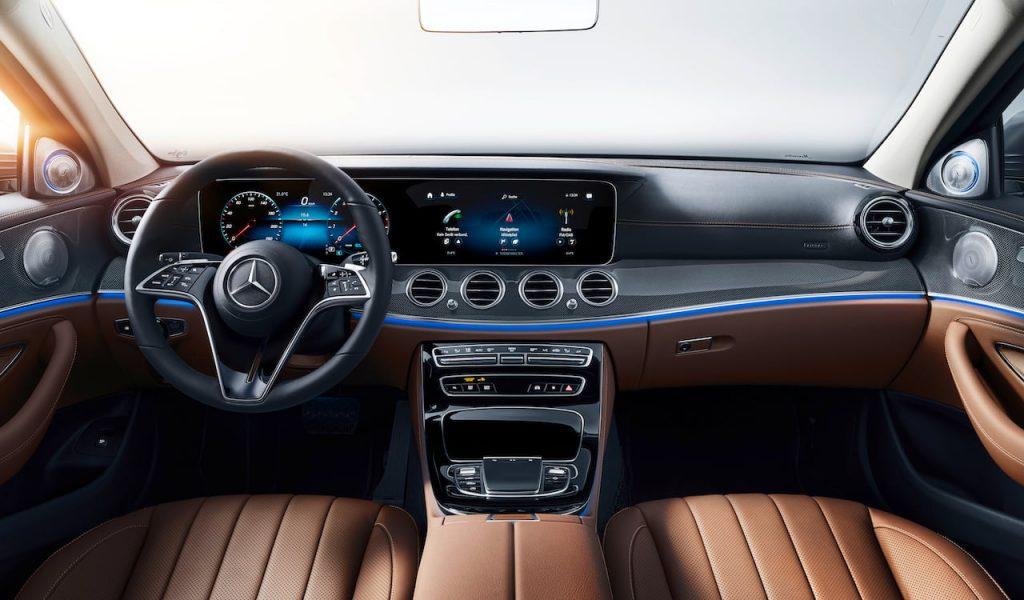 2021 Mercedes E-Class facelift interior dashboard