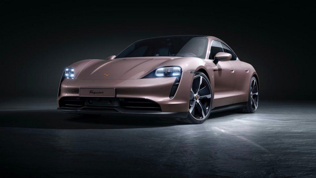 2021 Porsche Taycan RWD front three quarters