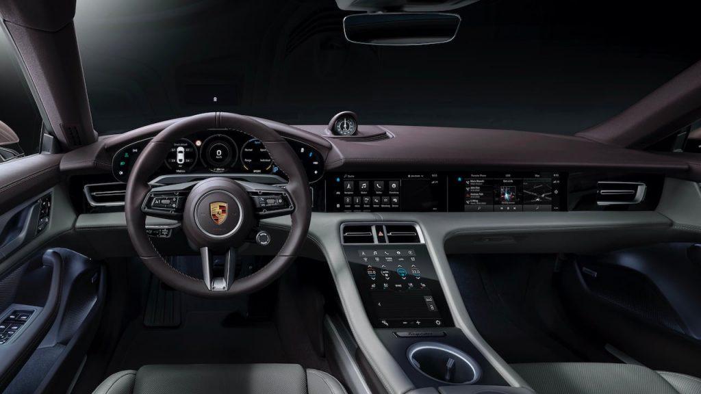 2021 Porsche Taycan RWD interior dashboard