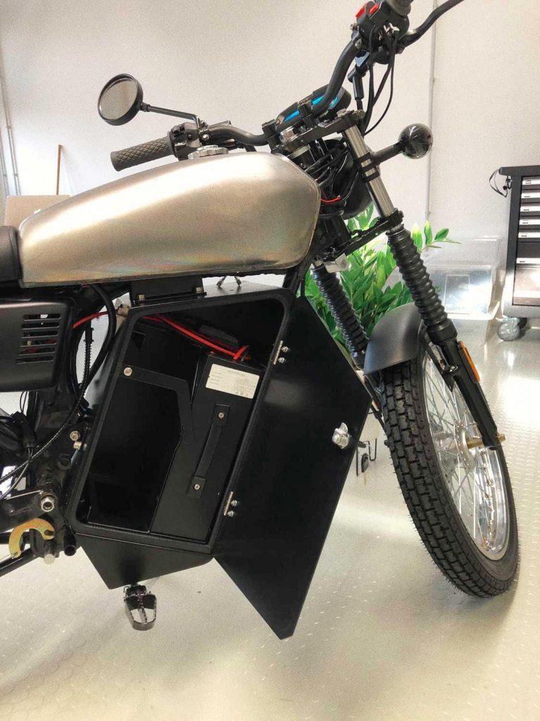 Black Tea electric bike production version battery bay
