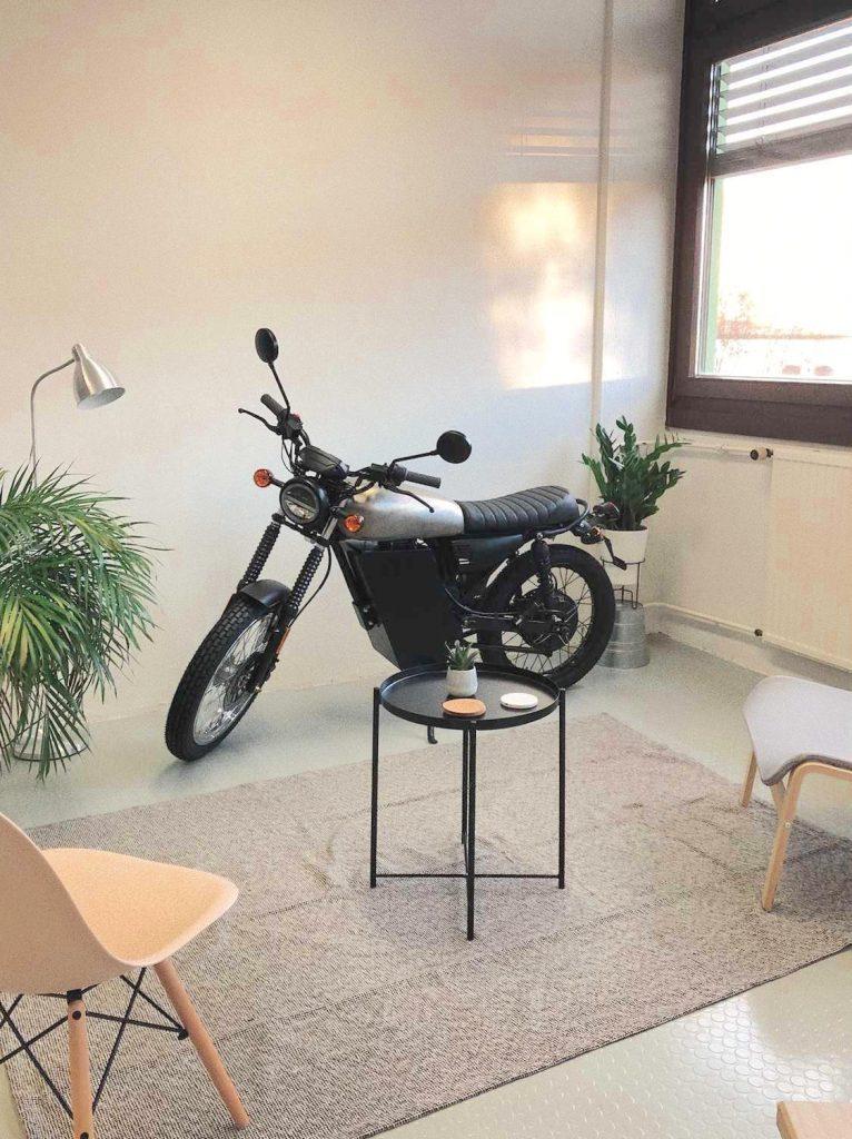 Black Tea electric bike production version indoors