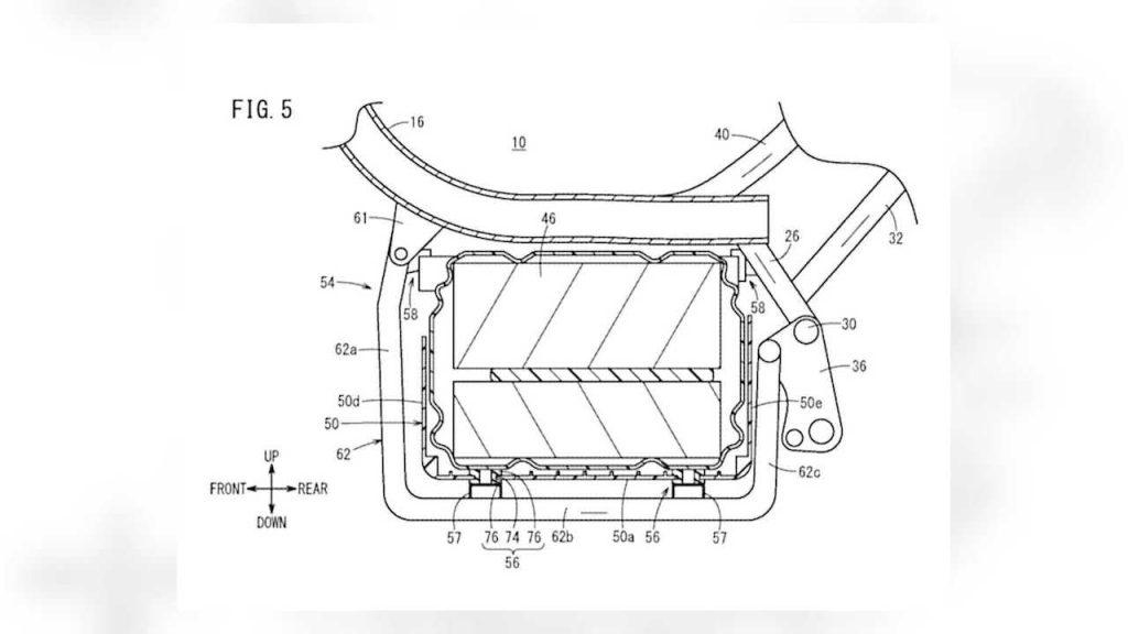 Honda Super Cub electric battery case