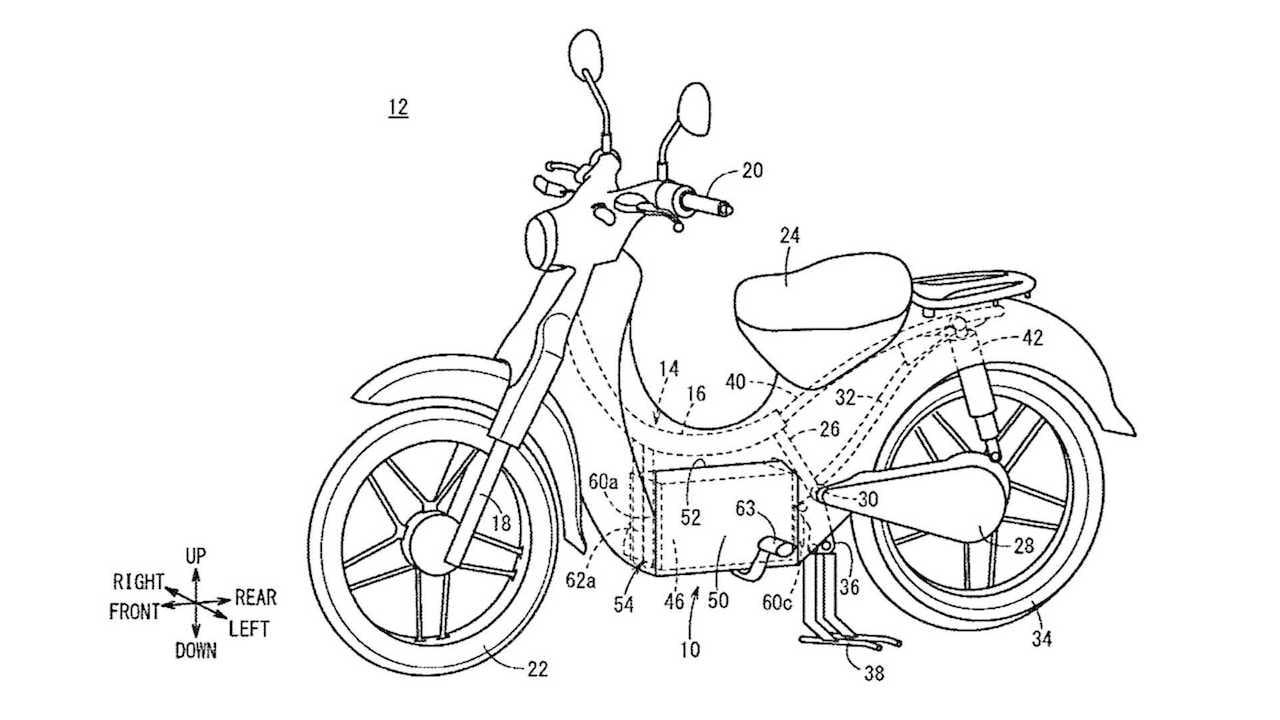 Honda Super Cub electric patent