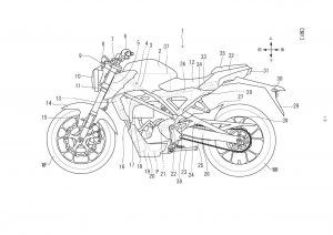 Honda electric bike patent profile