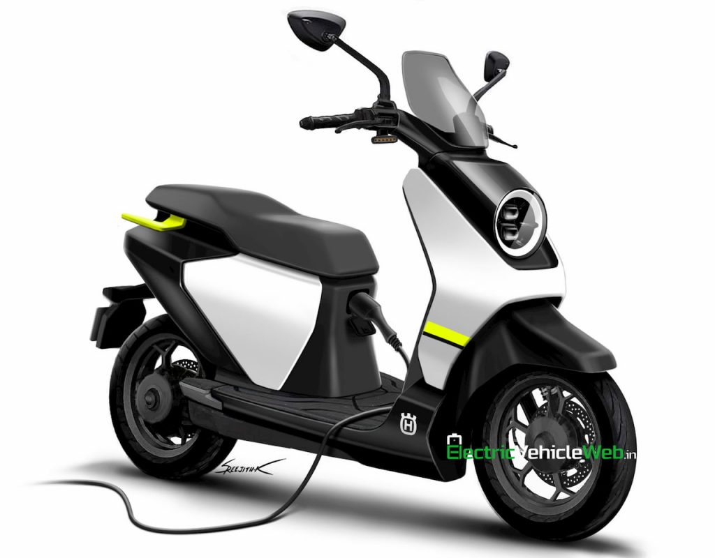 Husqvarna electric scooter charging rendering