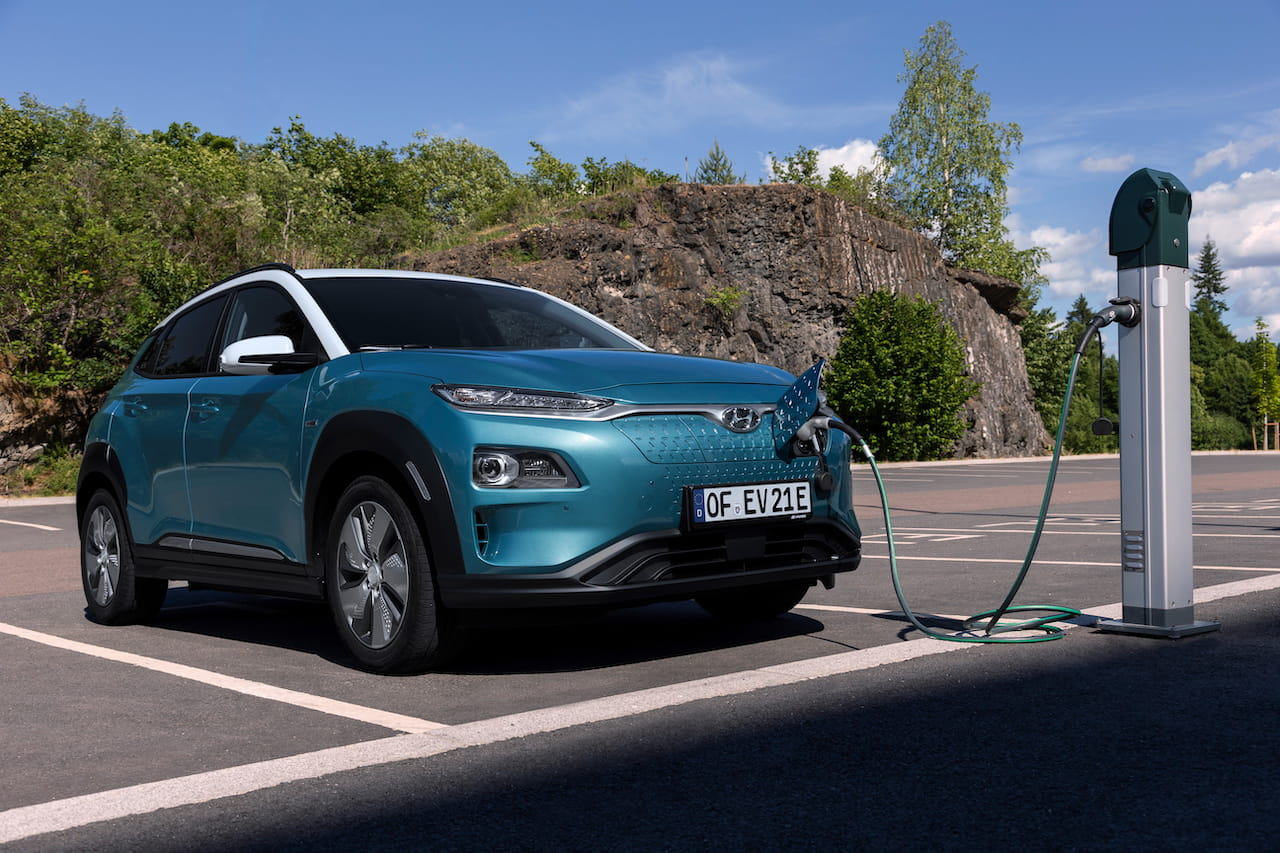 Hyundai Kona Electric charging