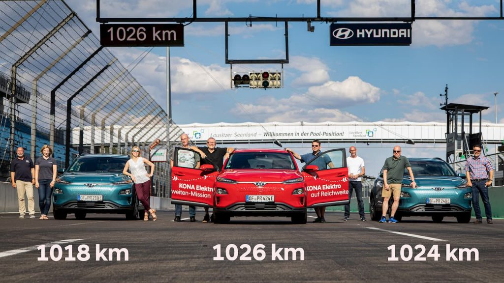 Hyundai Kona Electric max range achieved