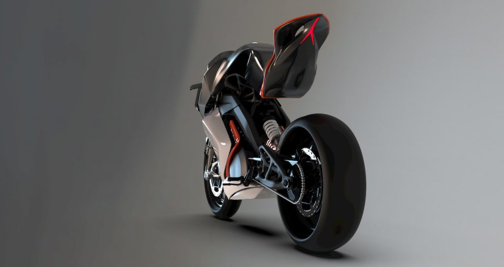 KTM RC Electric Bike project rear view by Mohit Solanki