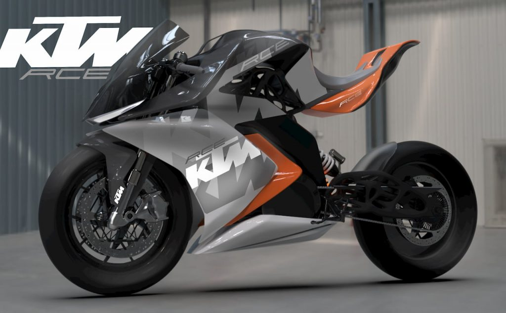 KTM RC Electric Bike project side view by Mohit Solanki