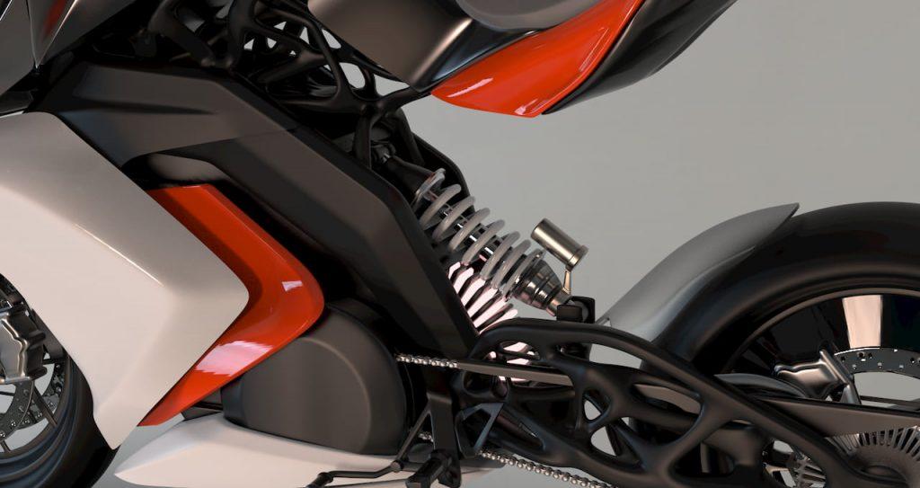 KTM RC Electric Bike rear suspension by Mohit Solanki