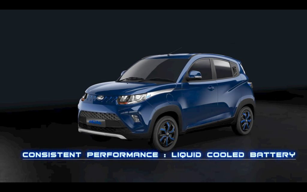 Mahindra eKUV100 Electric Blue body colour