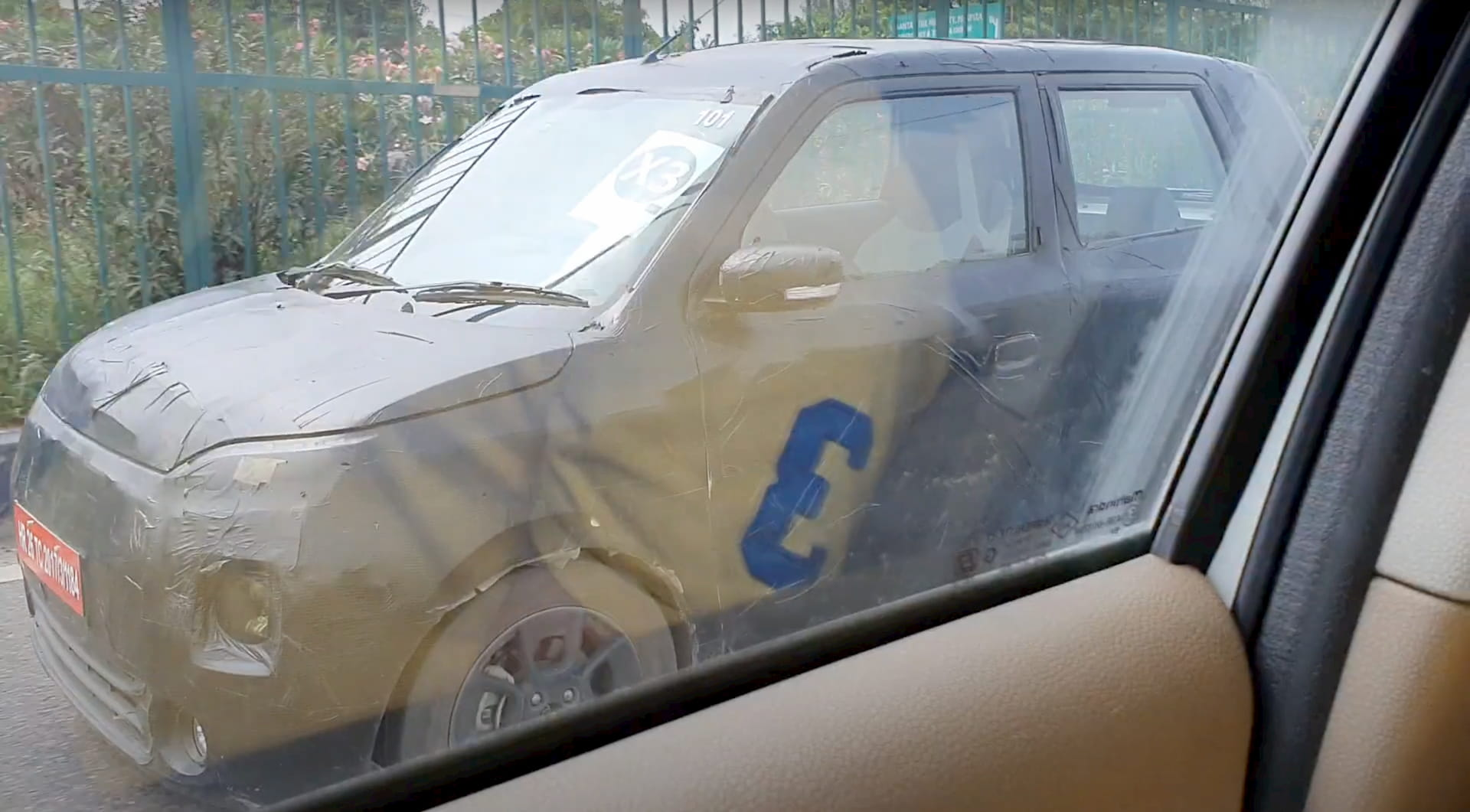 Maruti Wagon R-based Maruti electric car spy shot