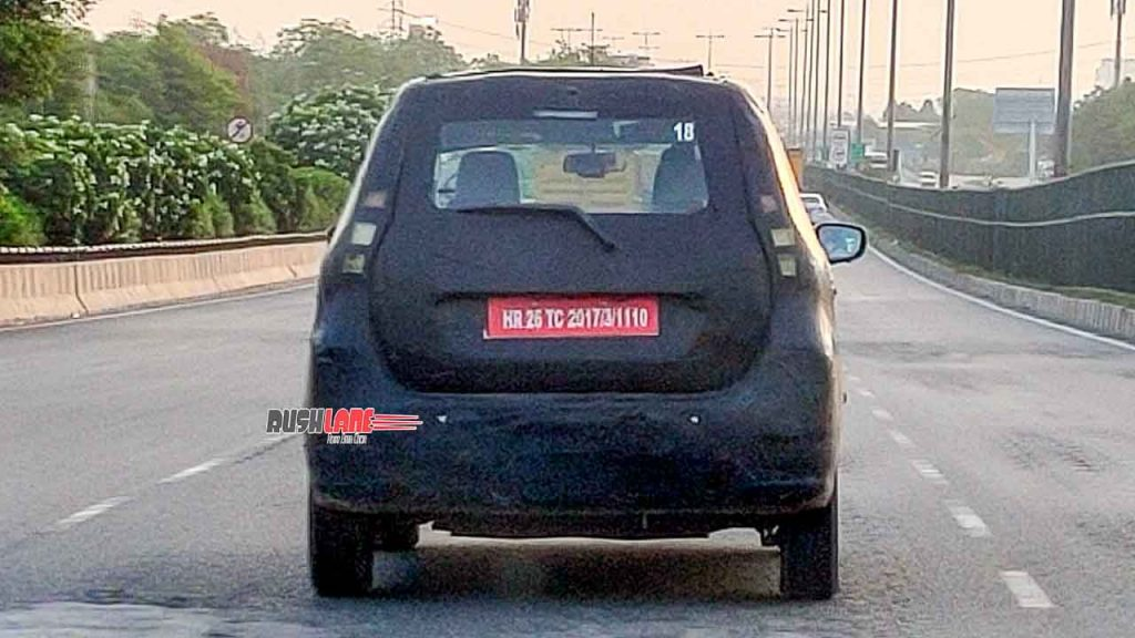 Maruti WagonR Electric XL5 rear spy photo