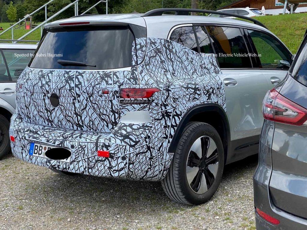Mercedes EQB rear quarters spy shot electricvehicleweb