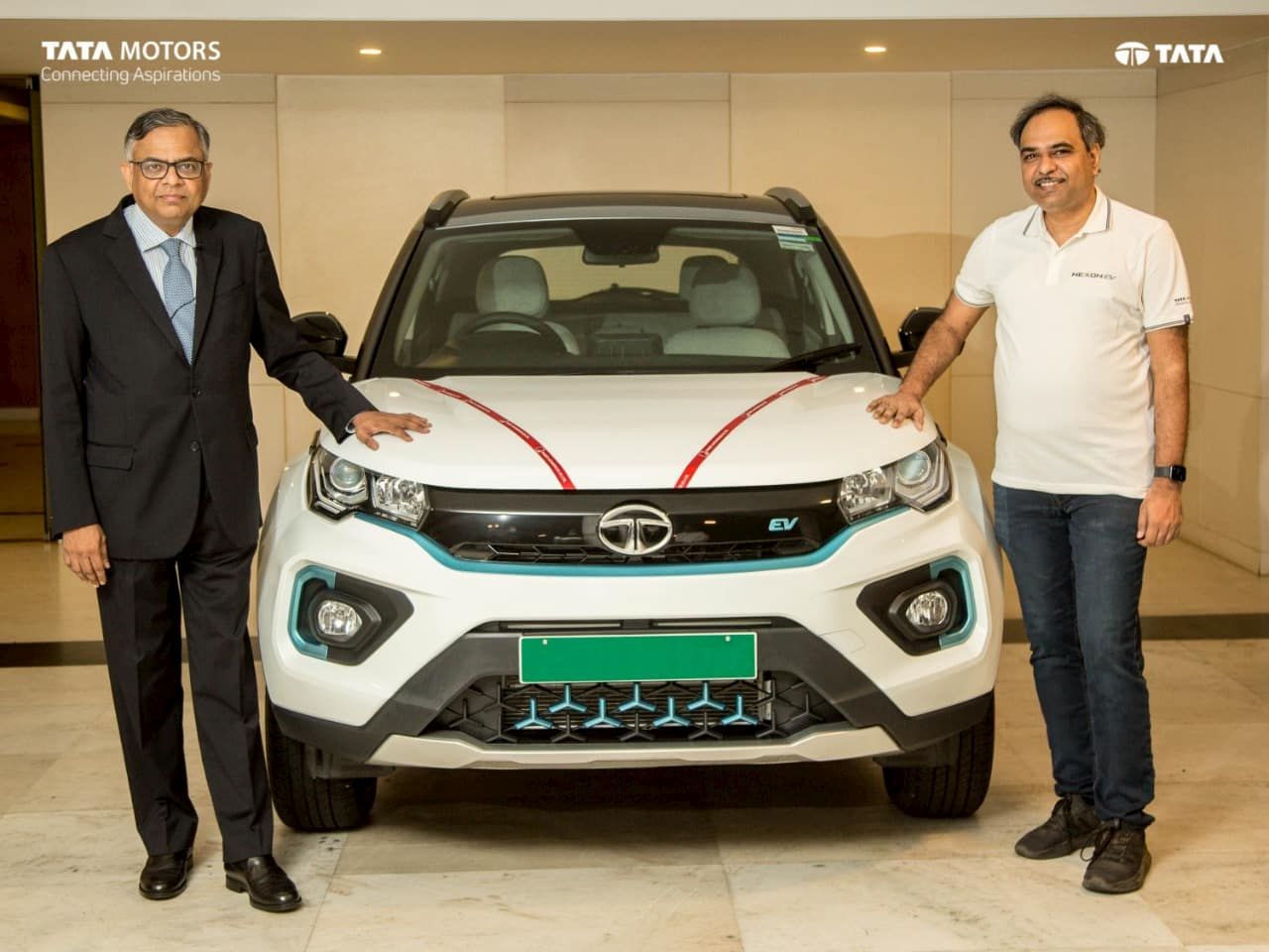 N Chandrasekharan & Shailesh Chandra Tata Nexon EV