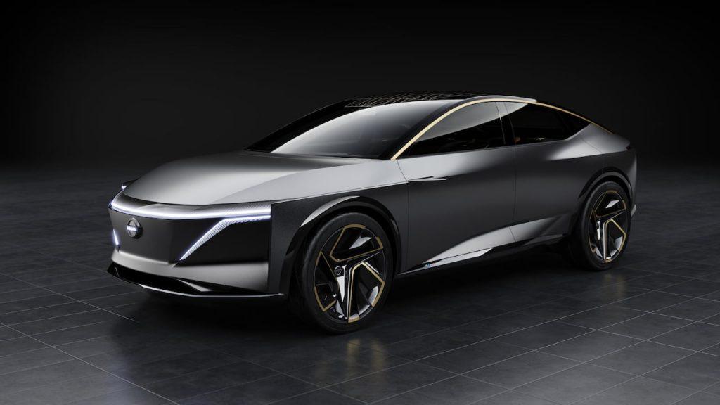 Nissan IMs concept Maxima electric front quarters