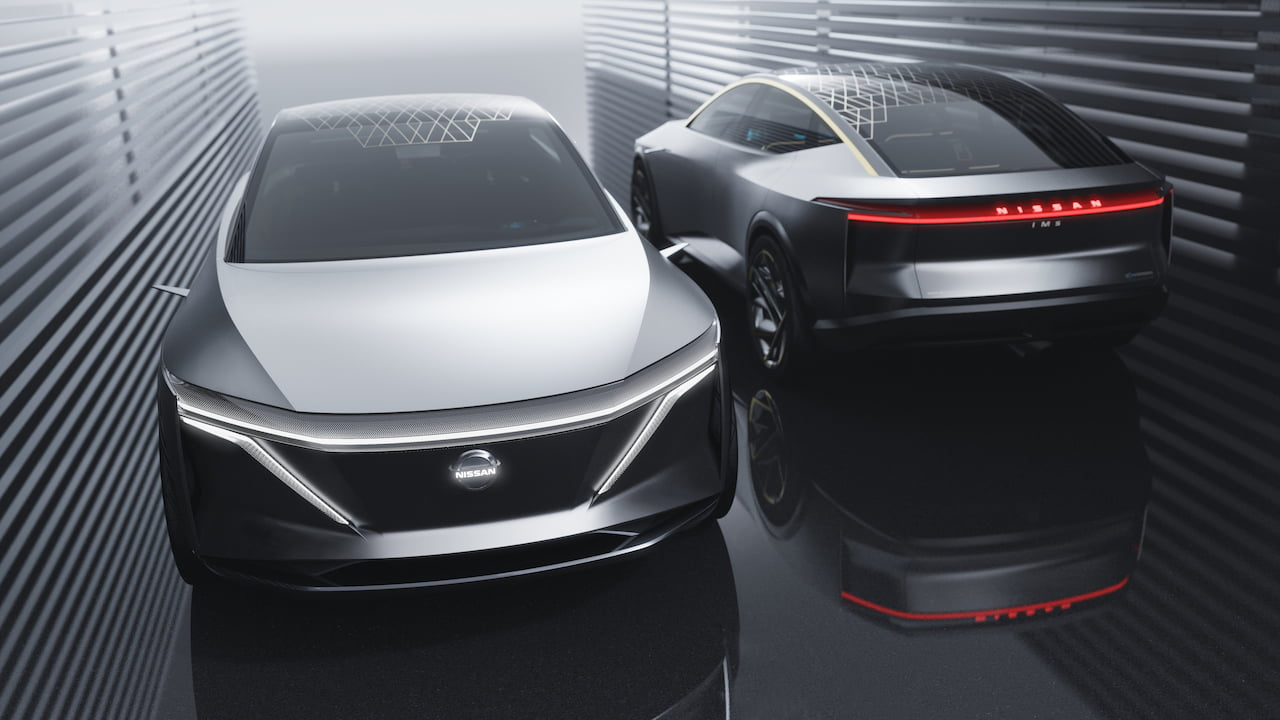 Nissan IMs concept Maxima electric front rear