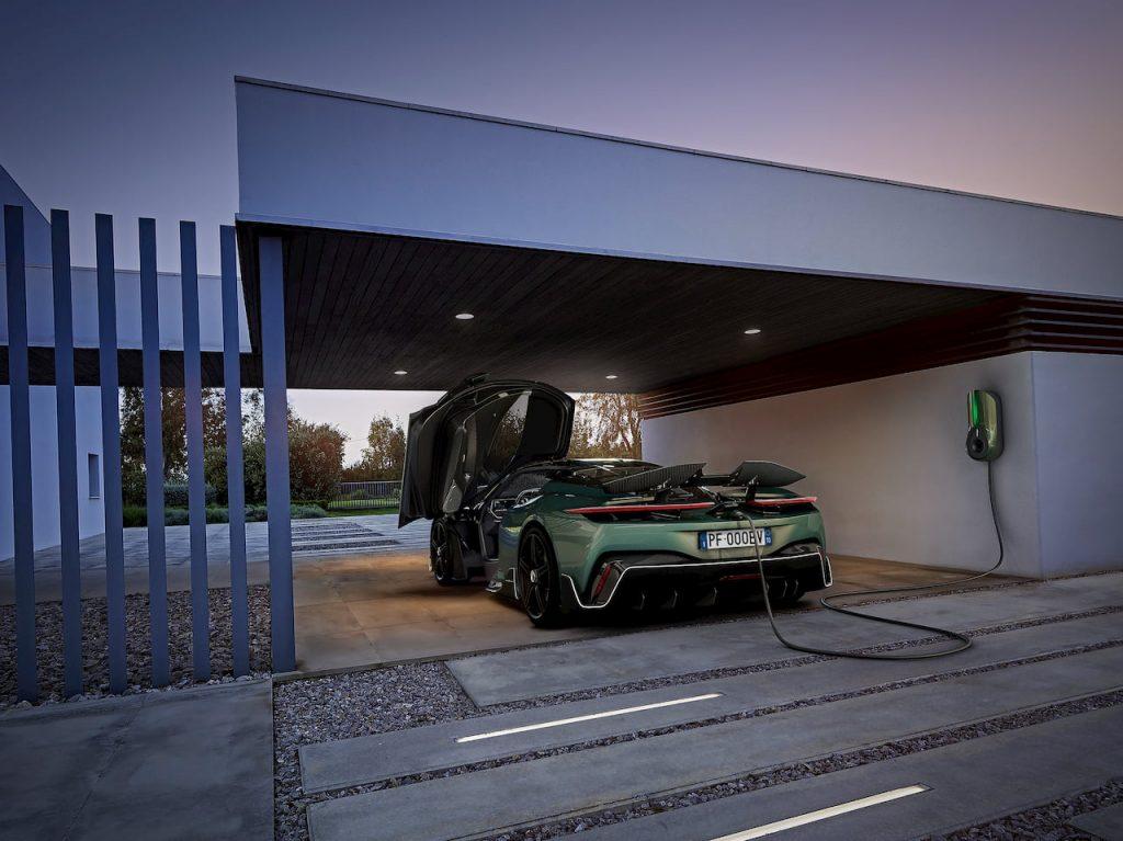 Pininfarina Battista charging wall box charger Green Motion