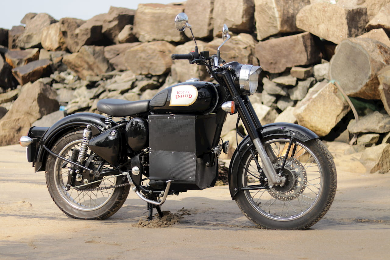 Royal Enfield Bullet Electric Side