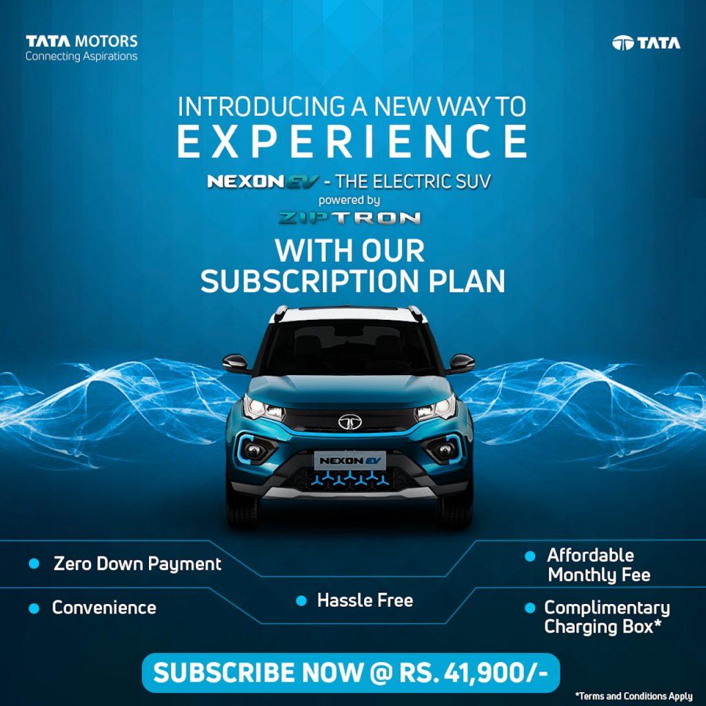Tata Nexon EV subcription lease benefits