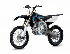 Yamaha electric bike EMX front three quarters