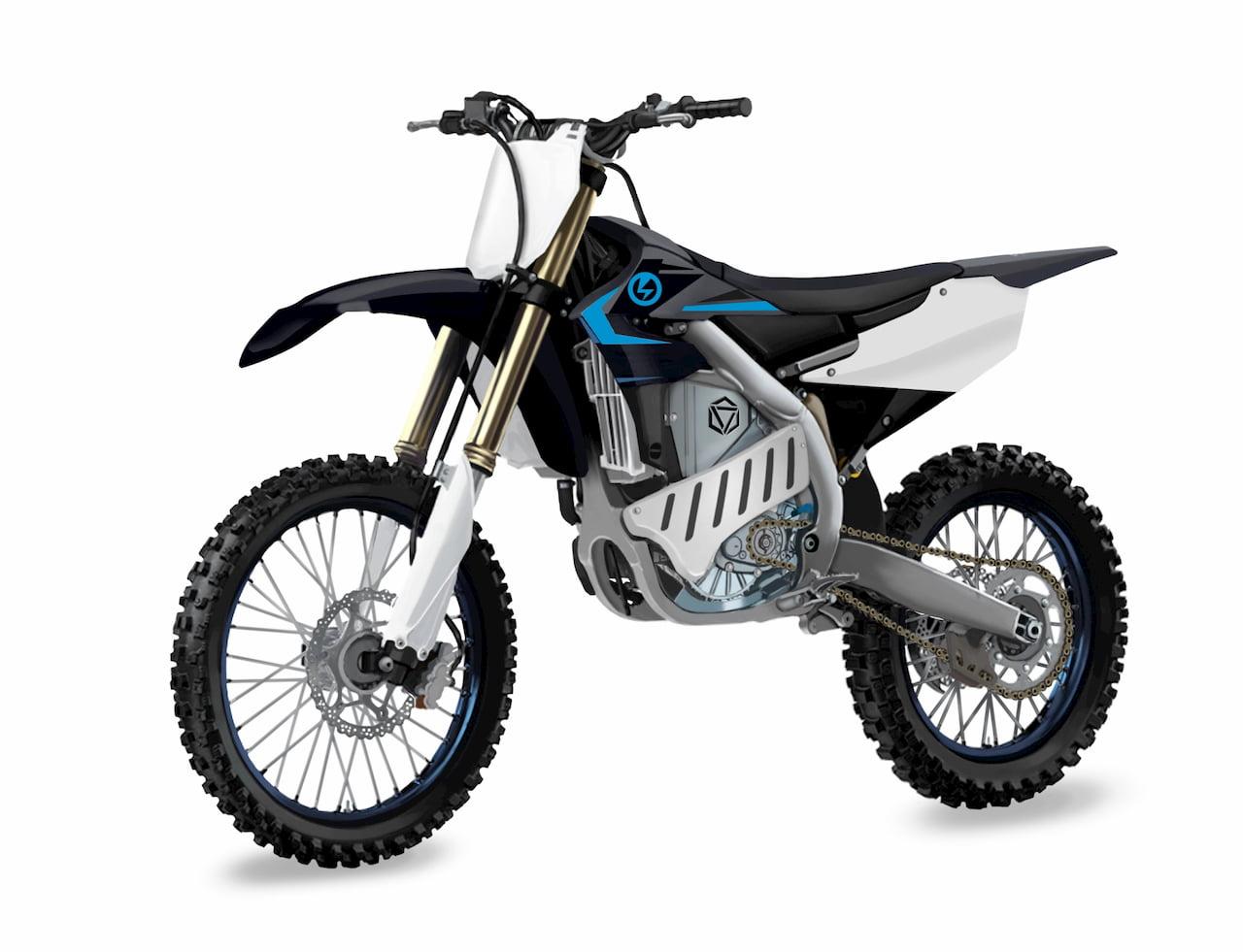 Yamaha electric bike EMX front three quarters