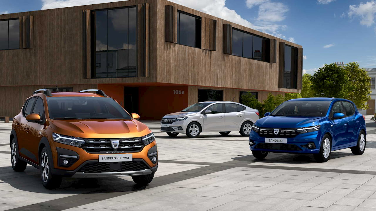 2021 Dacia Sandero Stepway 2021 Dacia Logan 2021 Dacia Sandero
