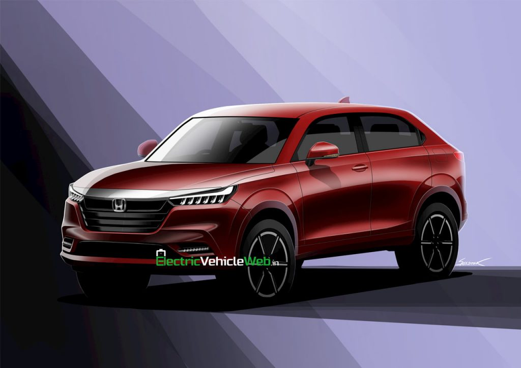 2021 Honda HR-V rendering electricvehicleweb