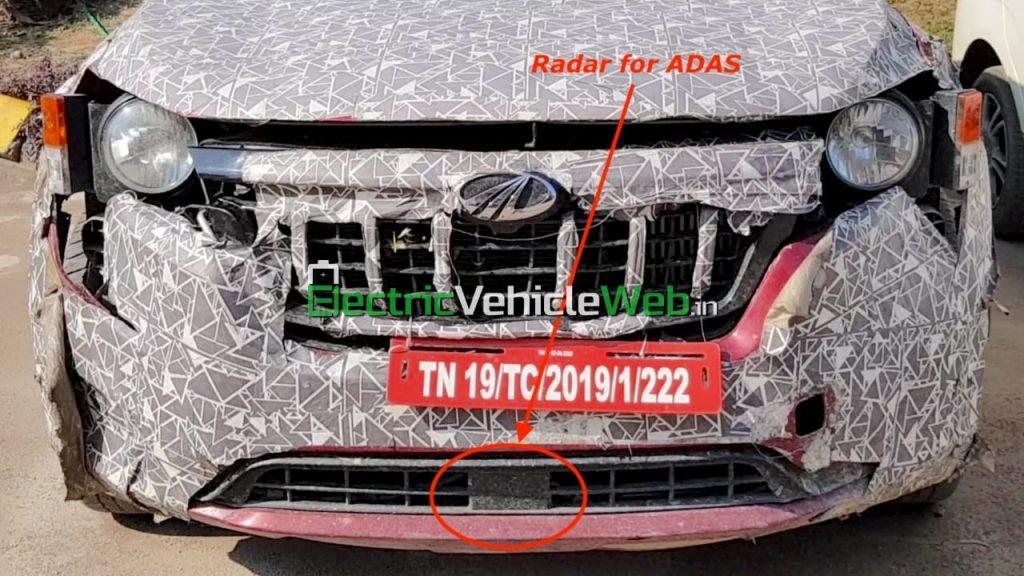 2021 Mahindra XUV500 ADAS radar spied