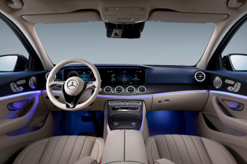 2021 Mercedes E-Class LWB facelift interior dashboard