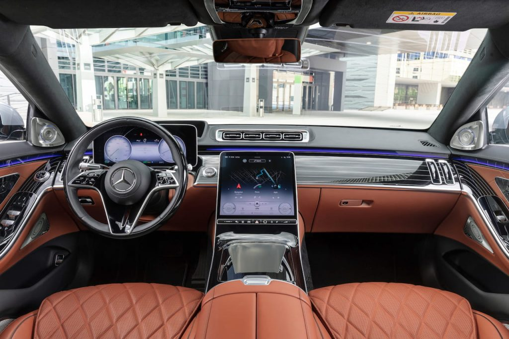 2021 Mercedes S-Class interior dashboard EVW