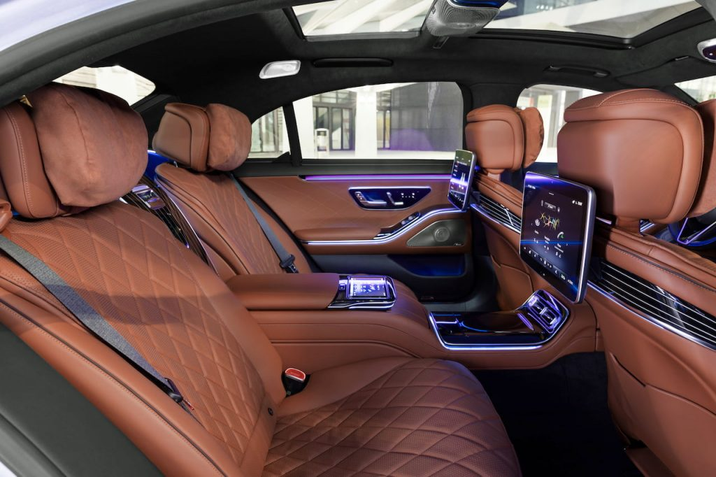 2021 Mercedes S-Class rear seats