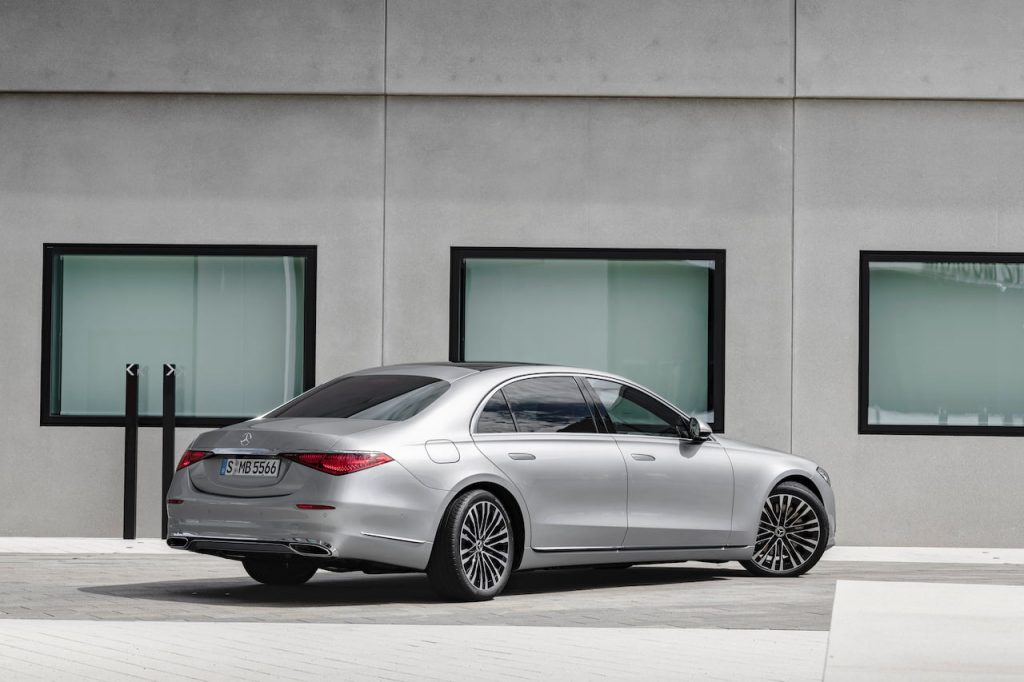 2021 Mercedes S-Class rear three quarters