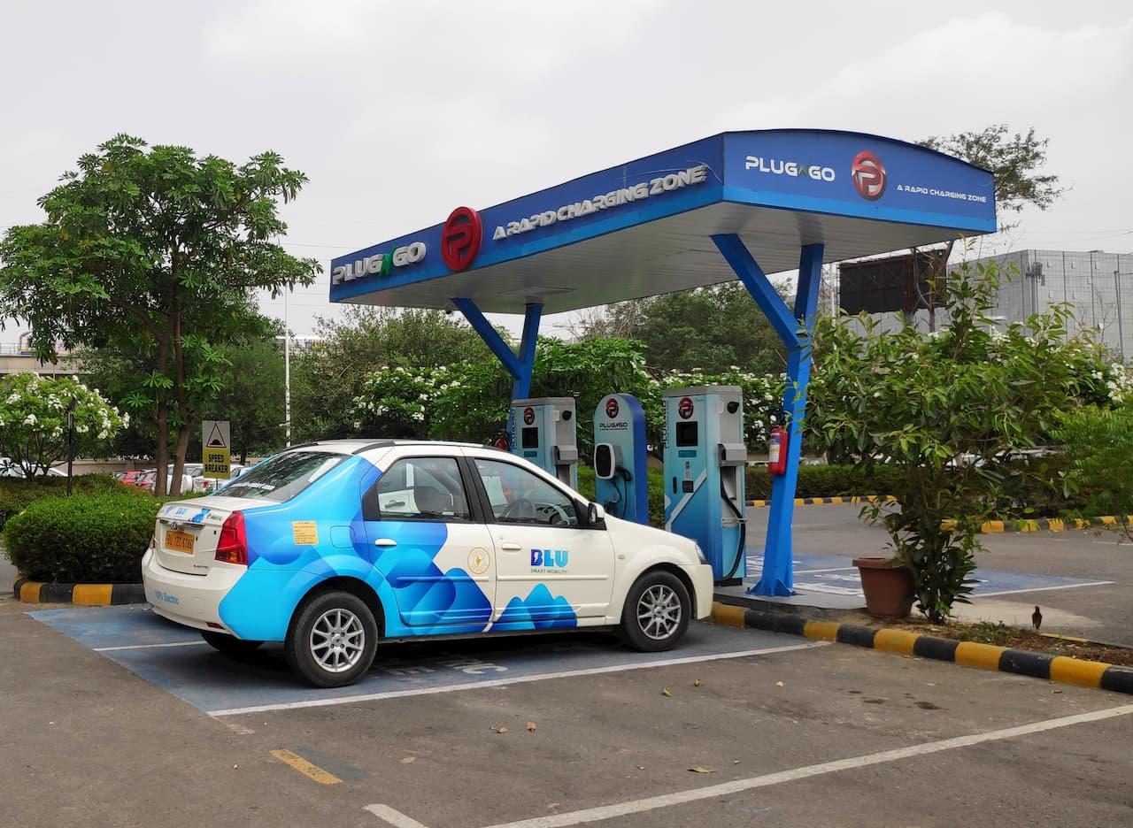 BluSmart electric vehicle cab