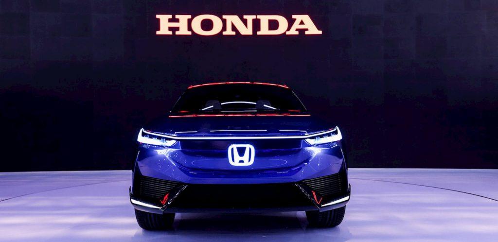 Honda SUV e concept front light live
