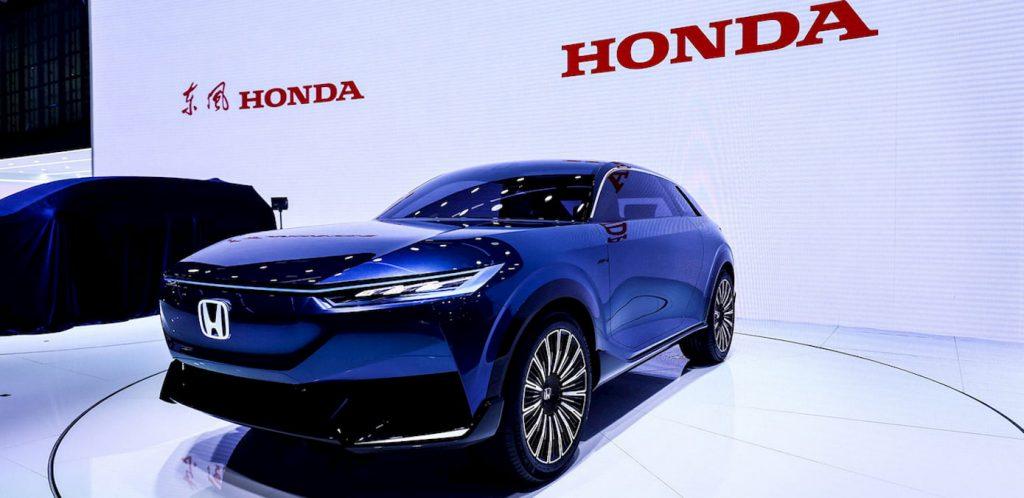 Honda SUV e concept front quarters live