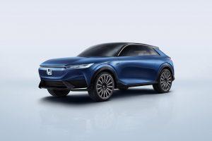 Honda SUV e concept front quarters official