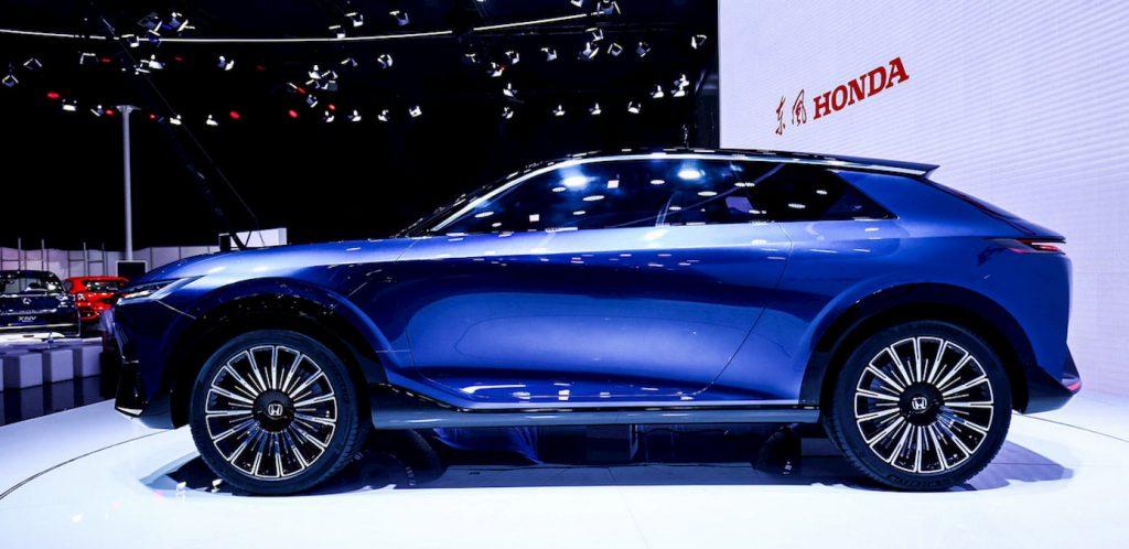 Honda SUV e concept profile side live