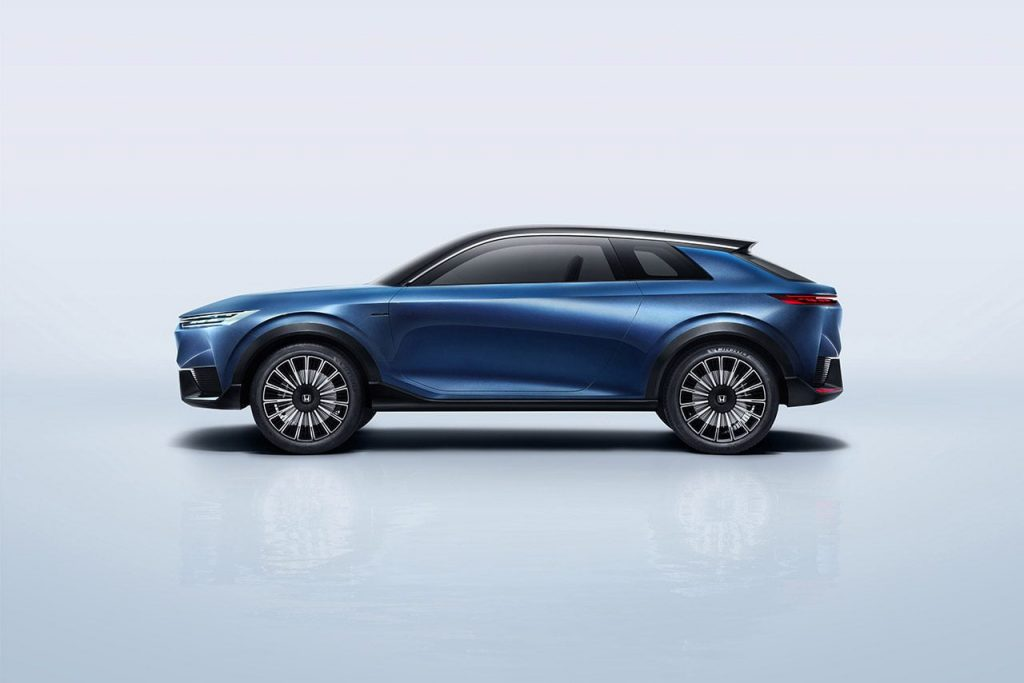 Honda SUV e concept side profile official