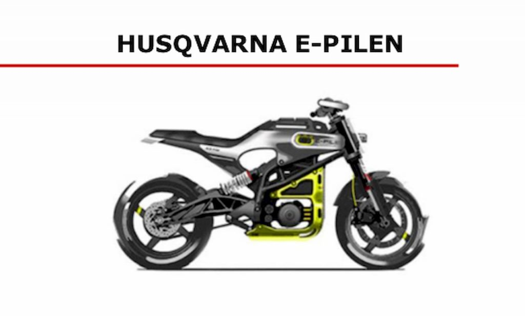 Husqvarna E-Pilen electric bike side profile sketch