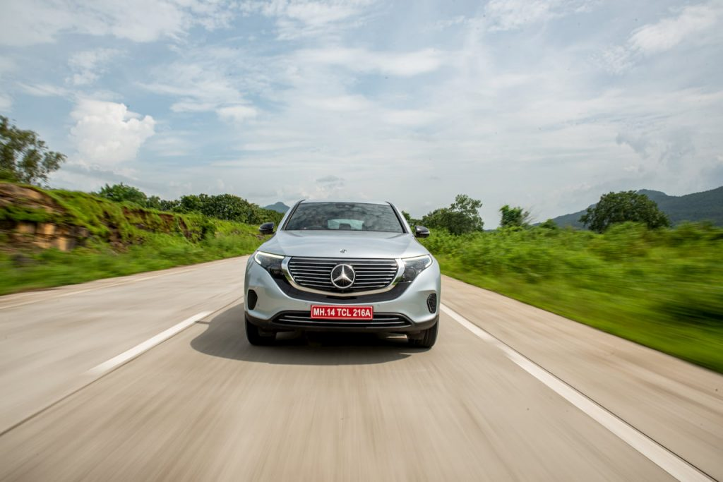 Mercedes EQC front review media drive India