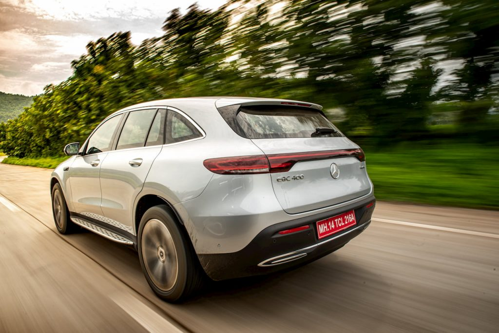 Mercedes EQC rear quarters review India