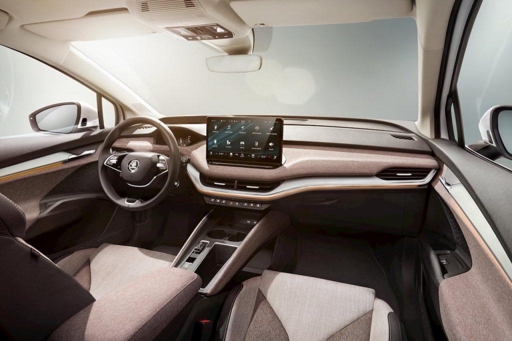 Skoda Enyaq iV interior dashboard