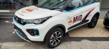 New pics of the Tata Nexon EV for enforcement duties in Kerala