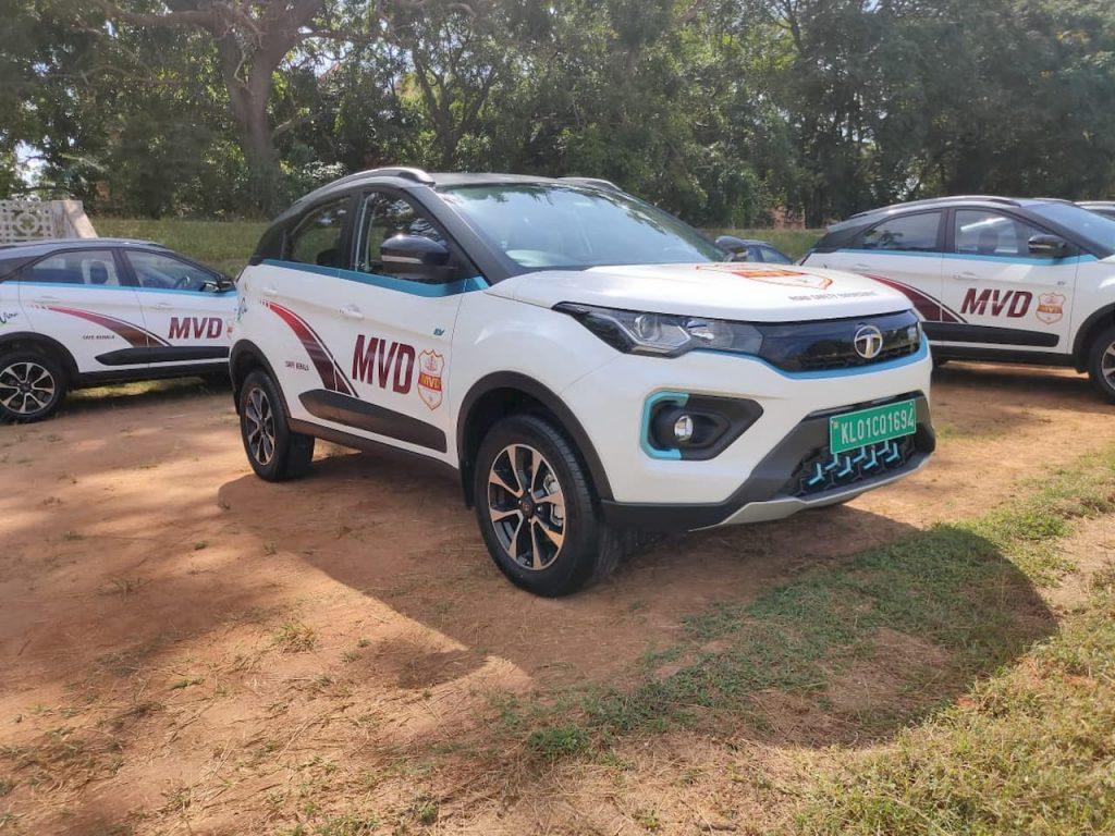 Tata Nexon EV front three quarters Kerala MVD